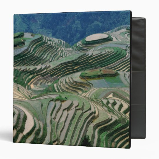 Landscape of rice terraces in the mountain, 3 ring binder