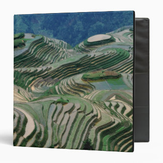 Landscape of rice terraces in the mountain, binders