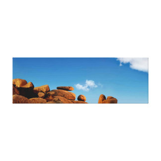 Landscape of Rock Formation with bluesky Canvas Print