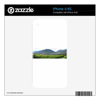 Landscape of South Tyrol with traditional cultivat Decal For iPhone 4