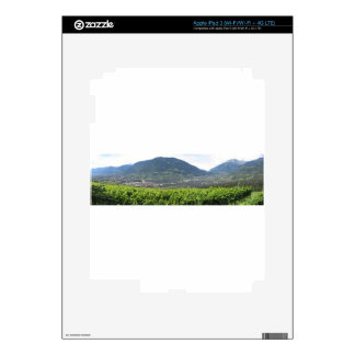 Landscape of South Tyrol with traditional cultivat Decals For iPad 3