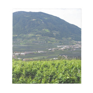 Landscape of South Tyrol with traditional cultivat Notepad
