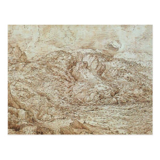 Landscape of the Alps by Pieter Bruegel the Elder Post Cards