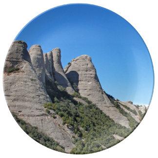 Landscape off Montserrat Dinner Plate