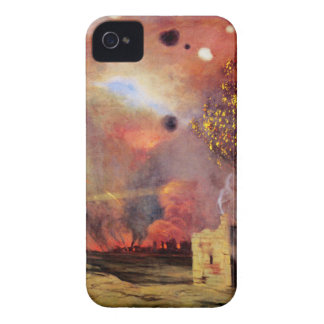 Landscape off ruins and fires by Felix Vallotton Case-Mate iPhone 4 Case