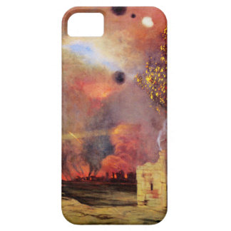 Landscape off ruins and fires by Felix Vallotton iPhone SE/5/5s Case