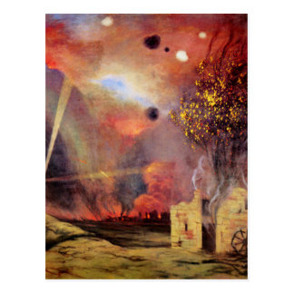 Landscape off ruins and fires by Felix Vallotton Postcard