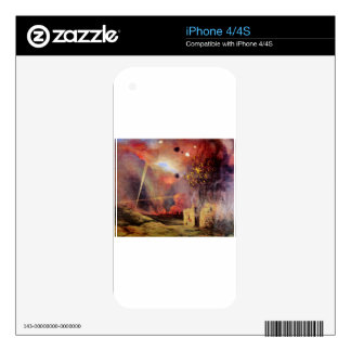 Landscape off ruins and fires by Felix Vallotton Skins For The iPhone 4