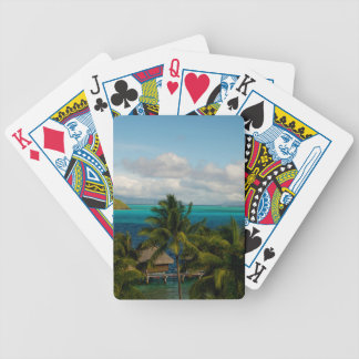 Landscape off will bora will bora bicycle playing cards
