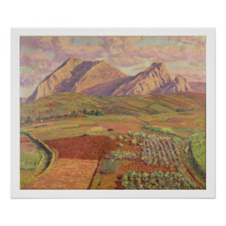 Landscape (oil on canvas) poster