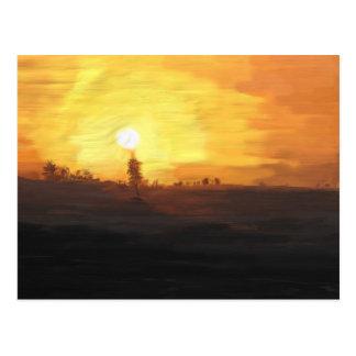 Landscape Oil Paint Postcard