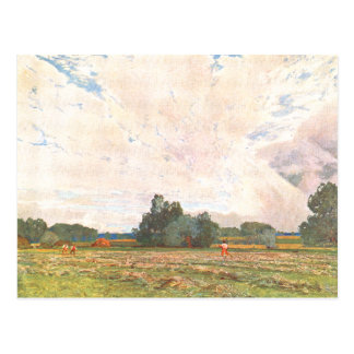 Landscape Oil Painting The Aftermath Postcard