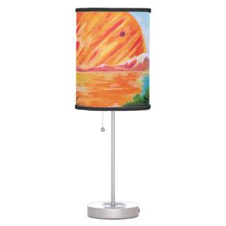 Landscape on Europa - Sci Fi Jupiter Moon Painting Table Lamp