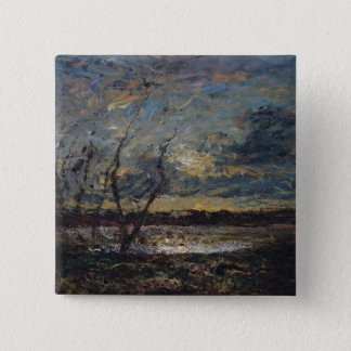 Landscape on the Outskirts of Cremieu Pinback Button
