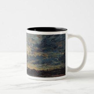 Landscape on the Outskirts of Cremieu Two-Tone Coffee Mug
