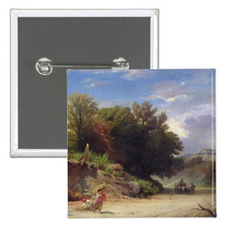 Landscape on the Outskirts of Rome, 1853 Button