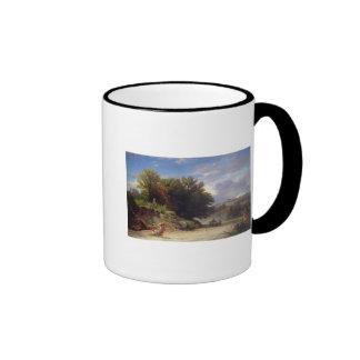 Landscape on the Outskirts of Rome, 1853 Ringer Mug
