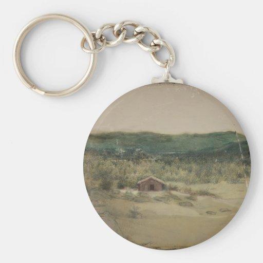 Landscape or Landskap Basic Round Button Keychain
