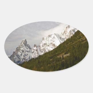 Landscape Oval Sticker