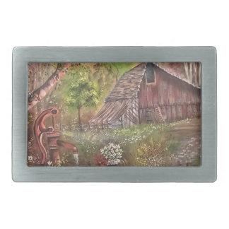 landscape paint painting hand art nature belt buckle