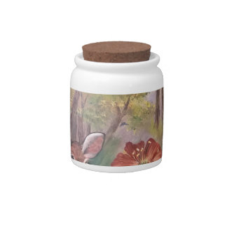 landscape paint painting hand art nature candy dish