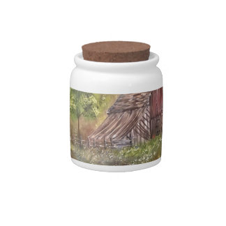 landscape paint painting hand art nature candy jar