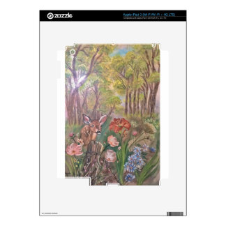 landscape paint painting hand art nature decals for iPad 3