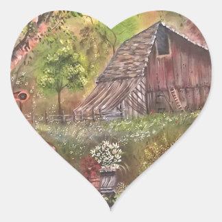 landscape paint painting hand art nature heart sticker
