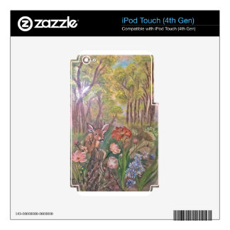 landscape paint painting hand art nature iPod touch 4G skin