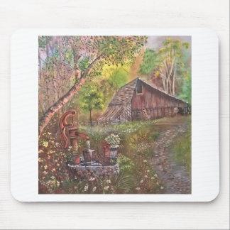 landscape paint painting hand art nature mouse pad