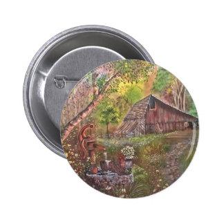 landscape paint painting hand art nature pinback button