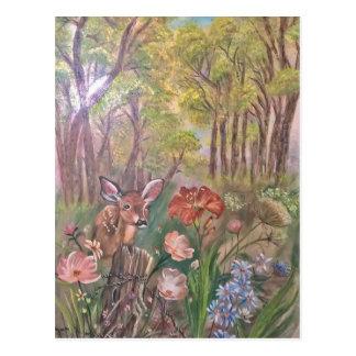 landscape paint painting hand art nature postcard