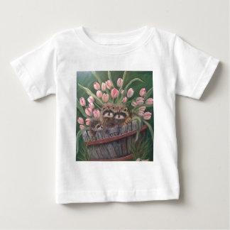 landscape paint painting hand art nature Racoons Baby T-Shirt