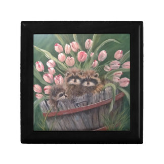 landscape paint painting hand art nature Racoons Gift Box