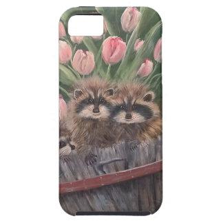 landscape paint painting hand art nature Racoons iPhone SE/5/5s Case