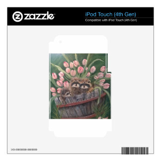 landscape paint painting hand art nature Racoons iPod Touch 4G Skin