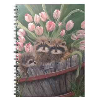 landscape paint painting hand art nature Racoons Notebook