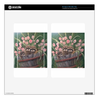 landscape paint painting hand art nature Racoons Skin For Kindle Fire