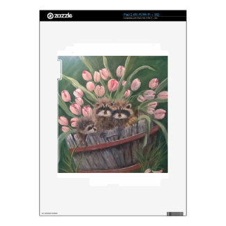 landscape paint painting hand art nature Racoons Skins For iPad 2