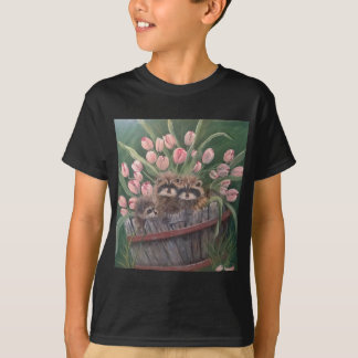 landscape paint painting hand art nature Racoons T-Shirt