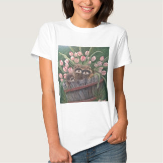 landscape paint painting hand art nature Racoons Tshirts