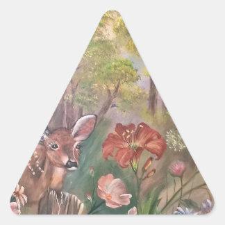 landscape paint painting hand art nature triangle sticker