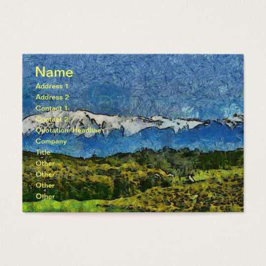 Landscape painting business card