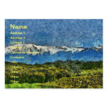 Landscape painting business card template