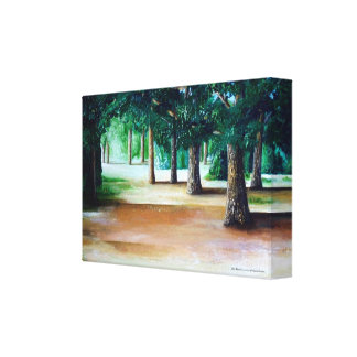 Landscape painting by Elin Bjorsvik - canvas print