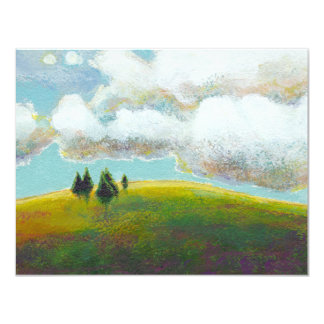 Landscape painting contemporary impressionism art card