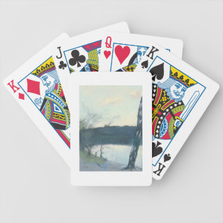 Landscape (pastel on canvas) bicycle playing cards