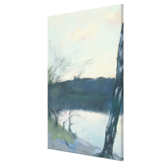 Landscape (pastel on canvas) canvas print