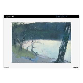 Landscape (pastel on canvas) decals for laptops