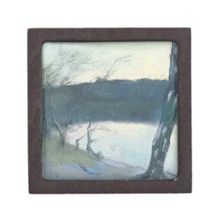 Landscape (pastel on canvas) jewelry box
